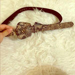 Zara Animal Print Belt